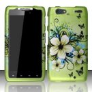 Hard Rubber Feel Design Case for Motorola Droid RAZR MAXX XT913/XT916 (Verizon) - Hawaiian Flowers