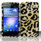Hard Rubber Feel Design Case for Huawei Mercury M886 (Cricket) - Cheetah