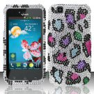 Hard Rhinestone Design Case for LG myTouch LU9400 (T-Mobile) - Colorful Leopard