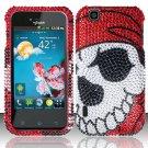 Hard Rhinestone Design Case for LG myTouch LU9400 (T-Mobile) - Pirate Skull