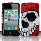 Hard Rhinestone Design Case for Apple iPhone 4/4S - Pirate Skull