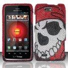 Hard Rhinestone Design Case for Motorola Droid 4 XT894 (Verizon) - Pirate Skull