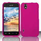 Hard Rubber Feel Plastic Case for LG Marquee LS855/Optimus Black (Sprint/Boost) - Pink