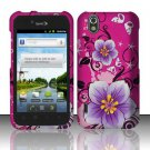 Hard Rubber Feel Design Case for LG Marquee LS855/Optimus Black (Sprint/Boost) - Hibiscus Flowers