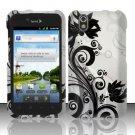 Hard Rubber Feel Design Case for LG Marquee LS855/Optimus Black (Sprint/Boost) - Black Vines