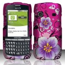Hard Rubber Feel Design Case for Samsung Replenish M580 M580 - Hibiscus Flowers