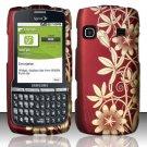 Hard Rubber Feel Design Case for Samsung Replenish M580 M580 - Bronze Garden