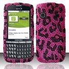 Hard Rhinestone Design Case for Samsung Replenish M580 M580 - Pink Leopard