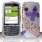 Hard Rhinestone Design Case for Samsung Replenish M580 M580 - Purple Butterfly