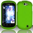 Hard Rubber Feel Plastic Case for LG Doubleplay C729 (T-Mobile) - Green