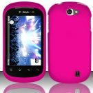 Hard Rubber Feel Plastic Case for LG Doubleplay C729 (T-Mobile) - Pink
