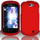 Hard Rubber Feel Plastic Case for LG Doubleplay C729 (T-Mobile) - Red