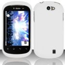 Hard Rubber Feel Plastic Case for LG Doubleplay C729 (T-Mobile) - White