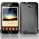 Hard Rubber Feel Design Case for Samsung Galaxy Note LTE - Carbon Fiber