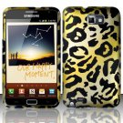 Hard Rubber Feel Design Case for Samsung Galaxy Note LTE - Cheetah