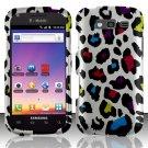 Hard Rubber Feel Design Case for Samsung Blaze 4G T769 - Colorful Leopard
