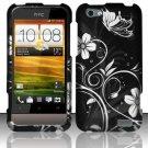 Hard Rubber Feel Design Case for HTC One V (Virgin Mobile) - Midnight Garden