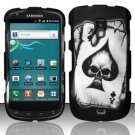 Hard Rubber Feel Design Case for Samsung Aviator R930 - Spade Skull