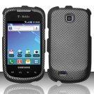 Hard Rubber Feel Design Case for Samsung Dart T499 - Carbon Fiber