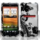 Hard Rubber Feel Design Case for HTC EVO 4G LTE (Sprint) - Black Vines