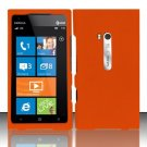Hard Rubber Feel Plastic Case for Nokia Lumia 900 (AT&T) - Orange