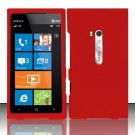 Hard Rubber Feel Plastic Case for Nokia Lumia 900 (AT&T) - Red