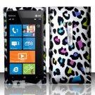 Hard Rubber Feel Design Case for Nokia Lumia 900 (AT&T) - Colorful Leopard