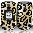 Hard Rubber Feel Design Case for Samsung Gusto 2 U365 (Verizon) - Cheetah