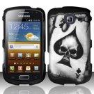 Hard Rubber Feel Design Case for Samsung Freeform 4 R390 (Cricket) - Spade Skull