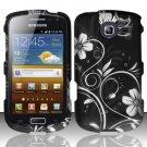 Hard Rubber Feel Design Case for Samsung Freeform 4 R390 (Cricket) - Midnight Garden