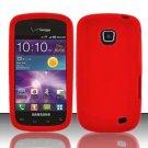 Soft Premium Silicone Case for Samsung Illusion i110 - Red