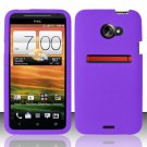 Soft Premium Silicone Case for HTC EVO 4G LTE (Sprint) - Purple