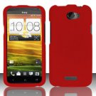 Hard Rubber Feel Plastic Case for HTC One X (AT&T) - Red