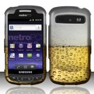 Hard Rubber Feel Design Case for Samsung Admire R720 - Beer Bubbles