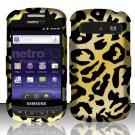 Hard Rubber Feel Design Case for Samsung Admire R720 - Cheetah