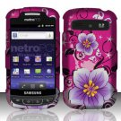 Hard Rubber Feel Design Case for Samsung Admire R720 - Hibiscus Flowers