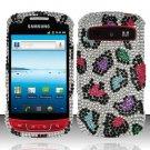 Hard Rhinestone Design Case for Samsung Admire R720 - Colorful Leopard