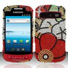 Hard Rhinestone Design Case for Samsung Admire R720 - Fall Flowers