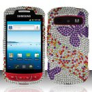 Hard Rhinestone Design Case for Samsung Admire R720 - Purple Butterfly