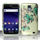 Hard Rubber Feel Design Case for Samsung Galaxy S II Skyrocket i727 (AT&T) - Azure Flowers