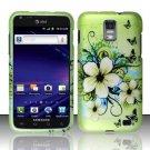 Hard Rubber Feel Design Case for Samsung Galaxy S II Skyrocket i727 (AT&T) - Hawaiian Flowers