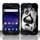Hard Rubber Feel Design Case for Samsung Galaxy S II Skyrocket i727 (AT&T) - Spade Skull