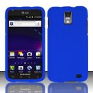 Hard Rubber Feel Plastic Case for Samsung Galaxy S II Skyrocket i727 (AT&T) - Blue
