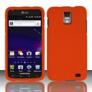 Hard Rubber Feel Plastic Case for Samsung Galaxy S II Skyrocket i727 (AT&T) - Orange