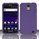 Hard Rubber Feel Plastic Case for Samsung Galaxy S II Skyrocket i727 (AT&T) - Purple