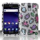 Hard Rhinestone Design Case for Samsung Galaxy S II Skyrocket i727 (AT&T) - Colorful Leopard