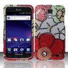 Hard Rhinestone Design Case for Samsung Galaxy S II Skyrocket i727 (AT&T) - Fall Flowers