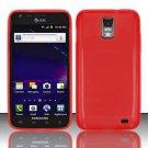 TPU Crystal Gel Case for Samsung Galaxy S II Skyrocket i727 (AT&T) - Red