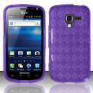TPU Crystal Gel Case for Samsung Exhilarate i577 (AT&T) - Purple