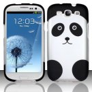 Hard Rubber Feel Design Case for Samsung Galaxy III i9300 - Panda